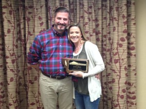 NASP President, Dr. Todd Savage & MASP's 2015 School Psychologist of the Year, Shawna Rader Kelly